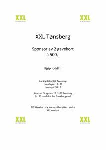 XXL Tønsberg til programblad
